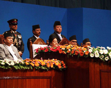 President addresses joint session of parliament