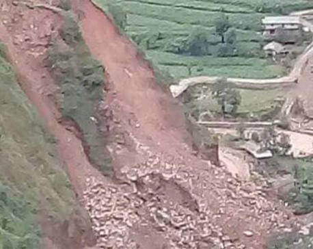 Landslide buries passenger bus in Rolpa