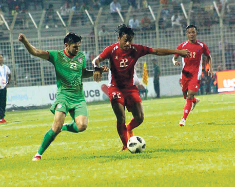 Lackluster Nepal starts Bangabandhu title defense with defeat to Tajikistan