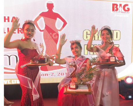 Sangina Shrestha crowned Baraha Jewelry Miss Plus Two