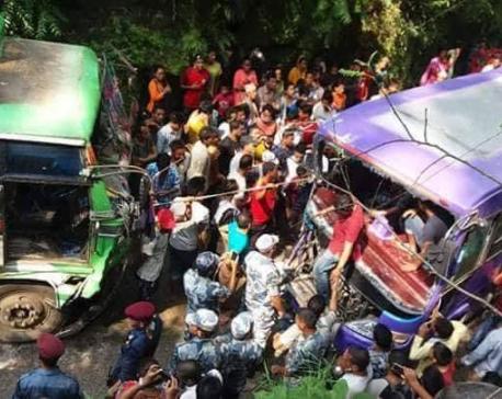 43 injured in Surkhet vehicular collision