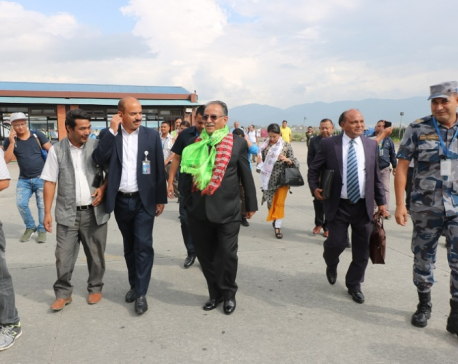 Dahal returns home, says visit was successful