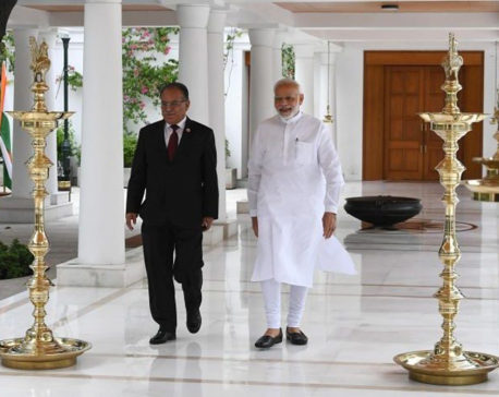 Chairman Dahal, Indian PM Modi meet in New Delhi