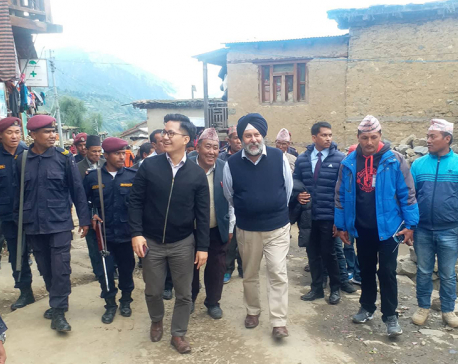Indian ambassador extends support to improve airport's infrastructure in Humla