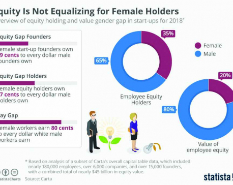 infographics: Equity is not equalizing for female holders