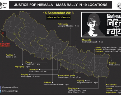 Nationwide protests today in support of Nirmala