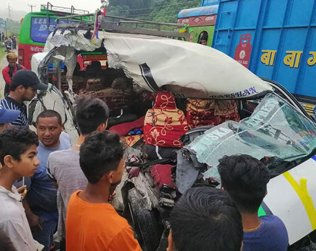 Two died, eight injured in Tanahu vehicular collision