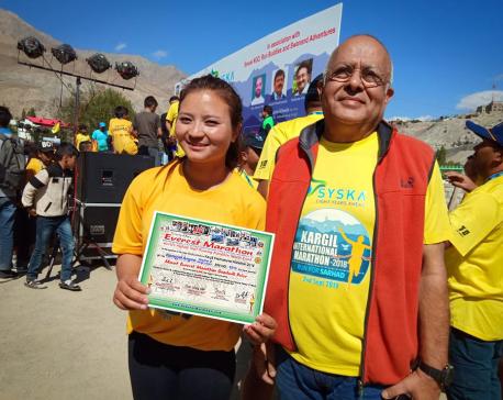 Kargil runner wins 'Mount Everest Marathon Goodwill Prize'