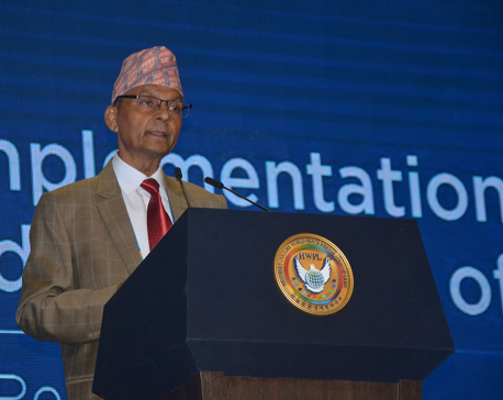 Regmi calls for cooperation to promote world peace and humanity