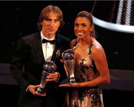 Modric, Marta win Best FIFA player 2018 awards