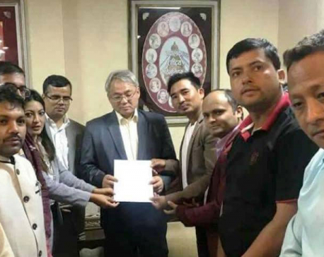 Student wings of ruling NCP demand IGP Khanal's resignation