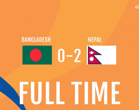 Nepal reaches to semi-final thrashing Bangladesh by 2-0 goal