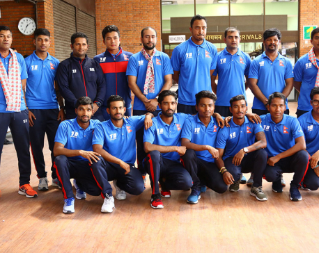 Nepali Cricket Team returns home