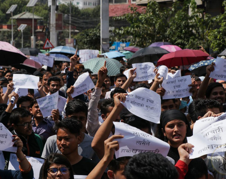 In pictures: Protest in Maitighar Mandala demanding justice for Nirmala Pant