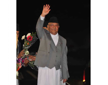 PM Oli off to New York to attend UNGA