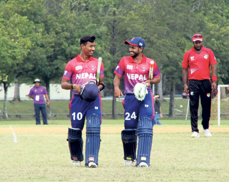 Nepal defeats Singapore by four wickets but qualification hopes cling on Oman-UAE match