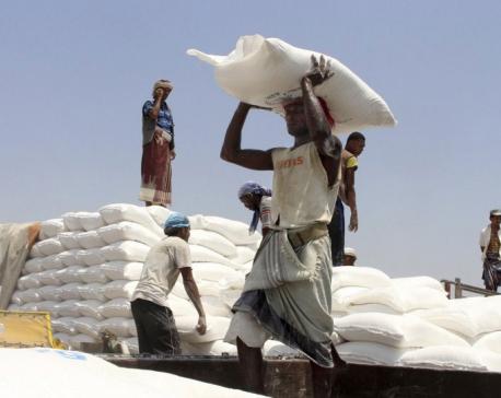 UN rushes aid to hunger-stricken Yemeni district