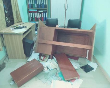 NSU students vandalize Lumbini Commerce Campus