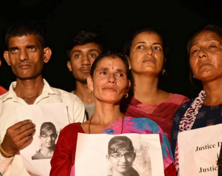 In pictures: Nirmala's parents at Maitighar seeking justice for their daughter