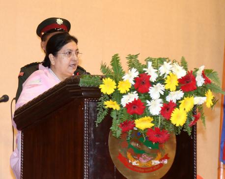 President Bhandari calls for environment protection