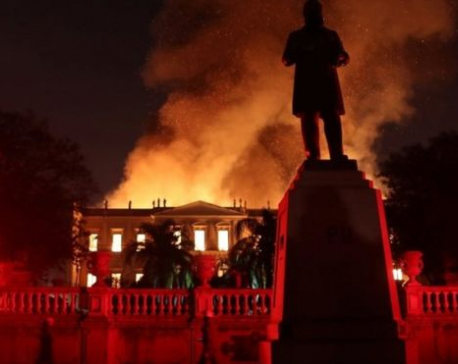 Researchers hope some objects survived Brazil museum fire
