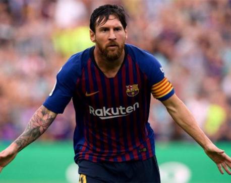 Lionel Messi sets two new La Liga records as Barcelona thumps Huesca 8-2