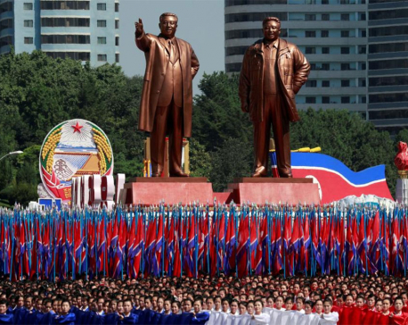 North Korea military parade features floats and flowers, not missiles (with photos)