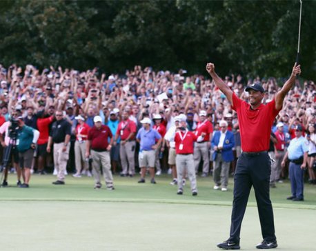 Tiger Woods wins first golf tournament since four back surgeries