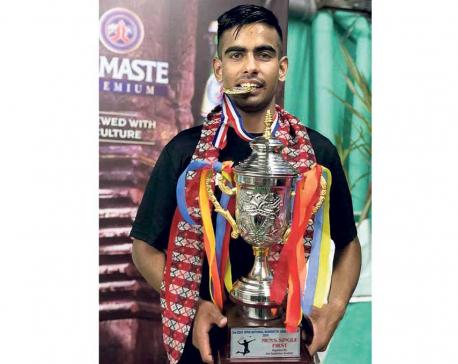 Dhami, Maharjan win badminton singles titles