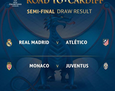 Madrid and Atletico to meet in Champions League semis