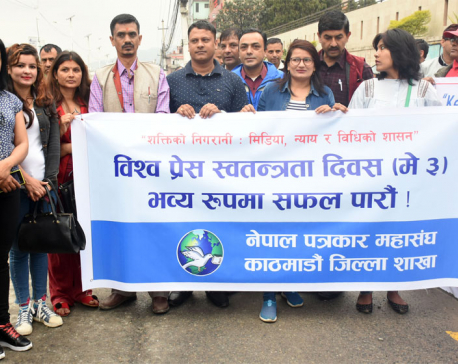 Rally held to mark World Press Freedom Day