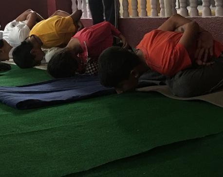 Kids demonstrate yog asanas at Shiva Yog Sadhana Kendra (photo feature)