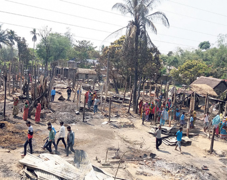 Fire flattens 70 homes in Sunsari (Update)