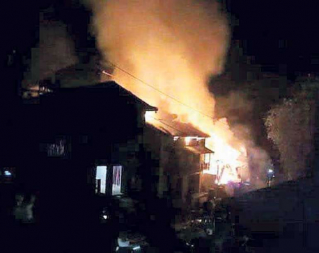 Hotel catches fire in Gosaikunda rural municipality