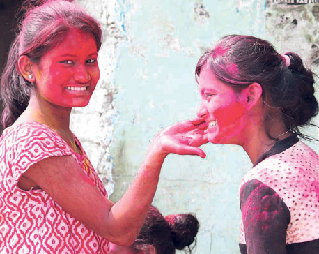 Janakpur celebrates Holi festival on Saturday