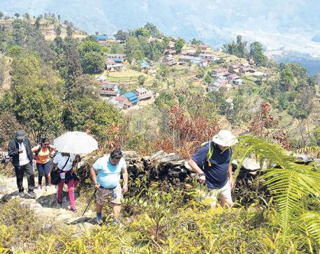 Trekking route explored in Pokhara's periphery