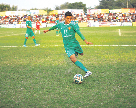 Tribhuvan Army into semis