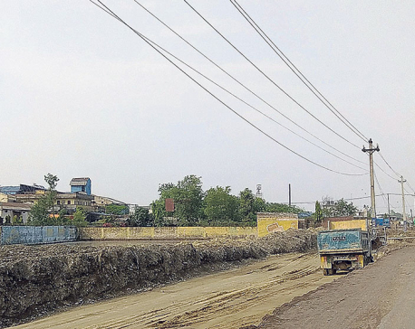 Another six-lane road under construction in Birgunj