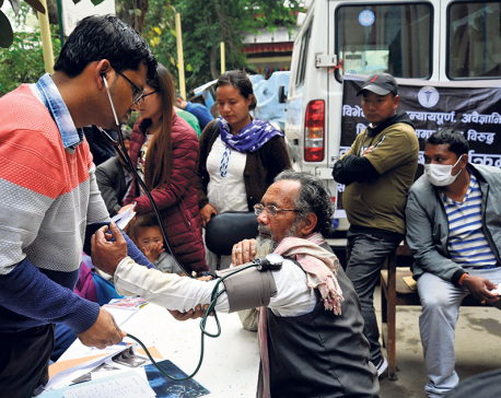 Patients treated under open sky as docs' strike drags on