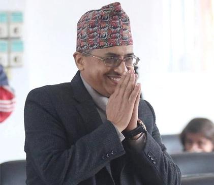 Ambassador Adhikari presents credentials to French president