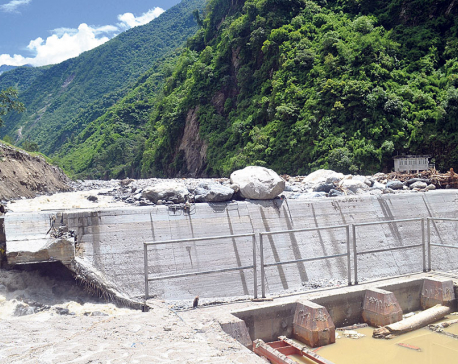 Sluggish construction of mid-Bhotekoshi hydropower project calls attention of people's reps