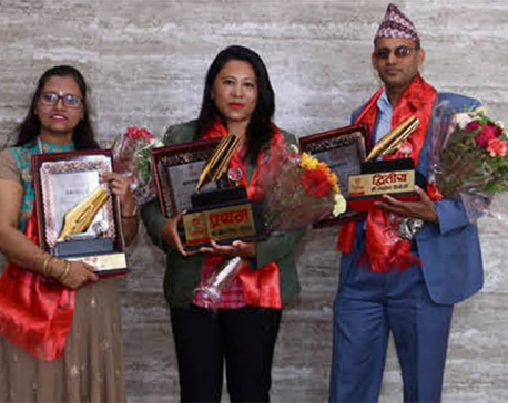 Bina Thing Tamang bags first prize at Dishhome Barhakhari Story Competition