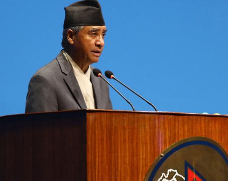 NC President Deuba calls for diplomatic solution  to Terai flood problem