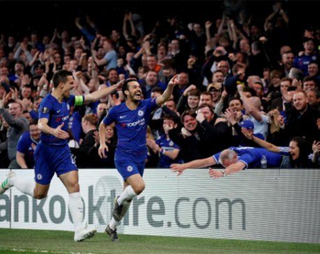Chelsea beat Slavia 4-3 to book Europa League semi