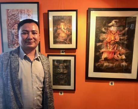 Roshan BK's exhibition 'Wooden Reflection' on display