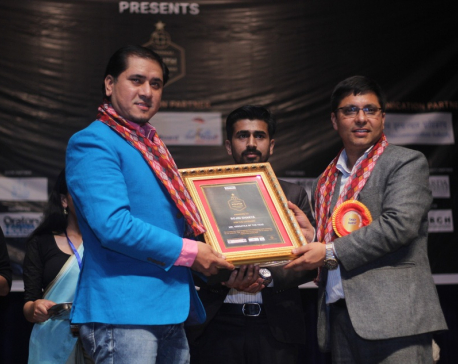 Rojin Shakya received the title of Mr Versatile of the year