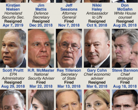 Infographics: Turnover at Team Trump
