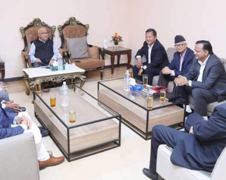 PM Oli holds talks with state chief ministers