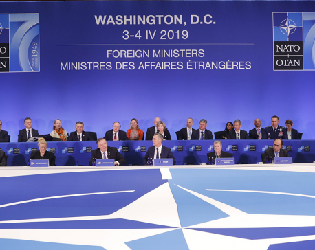 NATO ministers celebrate 70th anniversary amid rifts