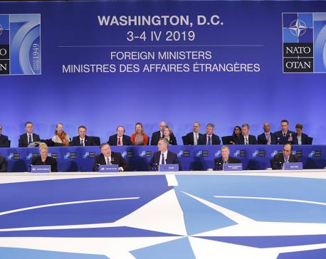 NATO ministers celebrate 70th anniversary amid rifts